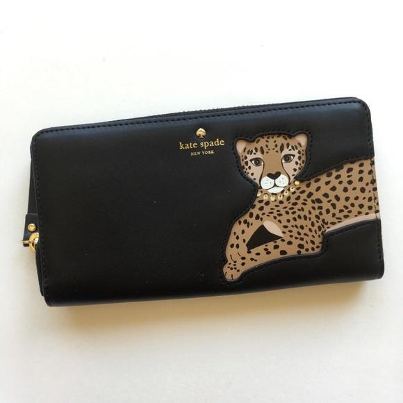 3997e4ca420f kate spade Handbags - Kate Spade Run Wild Leopard Applique Lacey Wallet